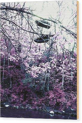 Pink Wood Print by Kiara Reynolds