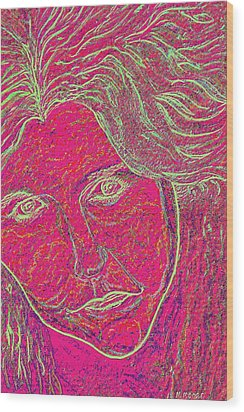 Pink Lady Wood Print by Mark Moore