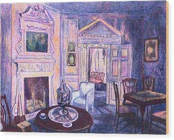 Pink Light At Mount Vernon Wood Print by Kendall Kessler