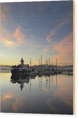 Wood Print featuring the photograph Pink Lightening by Suzy Piatt