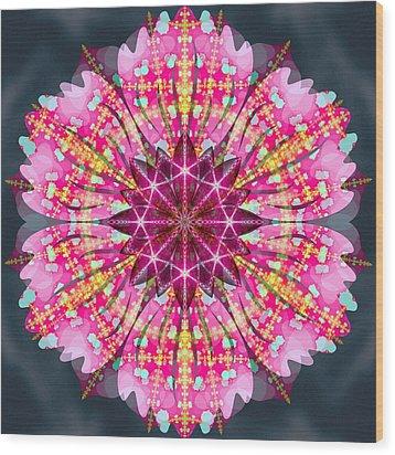 Pink Lightning Wood Print