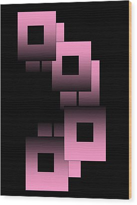 Pink Link Wood Print by Gayle Price Thomas