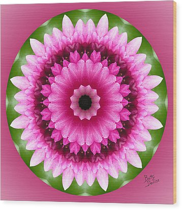 Wood Print featuring the photograph Pink Lotus Kaleidoscope by Betty Denise