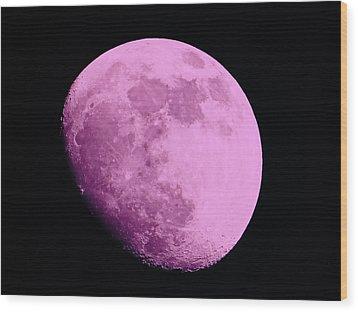 Pink Moon Wood Print by Tom Gari Gallery-Three-Photography