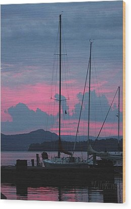 Pink Night Wood Print
