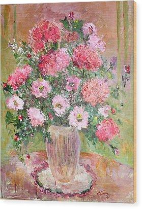Pink Parfait Wood Print by Mary Spyridon Thompson