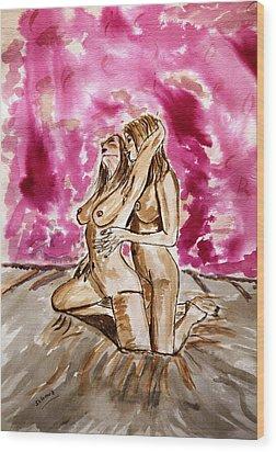 Pink Passion....... Wood Print