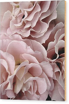 Pink Petal Profusion Wood Print by Ann Powell