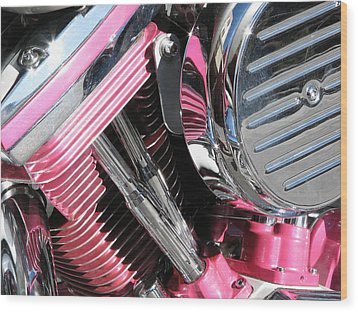Wood Print featuring the photograph Pink Power by Samuel Sheats