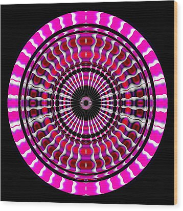 Pink Rings II Wood Print by Visual Artist  Frank Bonilla