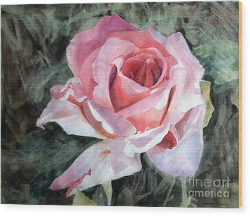 Pink Rose Greg Wood Print