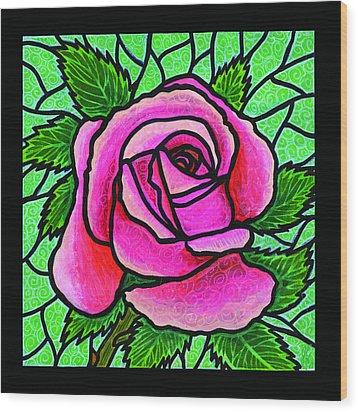 Pink Rose Number 5 Wood Print by Jim Harris