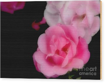 Pink Roses Wood Print by Kathleen Struckle