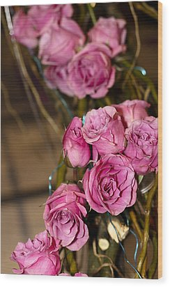 Pink Roses Wood Print by Patrice Zinck