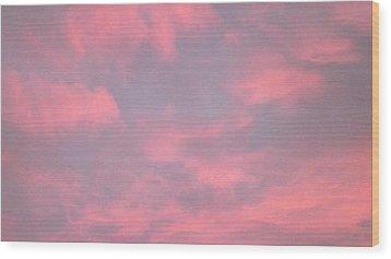 Pink Sky Wood Print