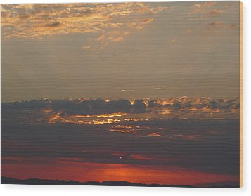 Wood Print featuring the photograph Pink Sky by Nora Boghossian