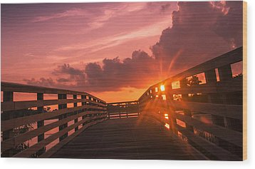 Pink Sky Sunset Wood Print by Don Durfee