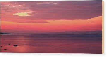 Pink Sunrise  Wood Print by Leyla Ismet