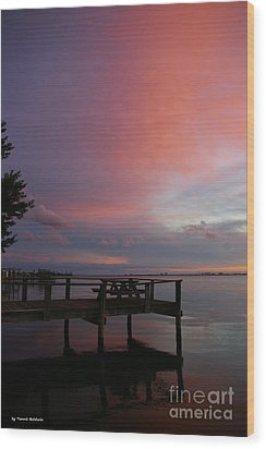 Wood Print featuring the photograph Pink Sunset by Tannis  Baldwin