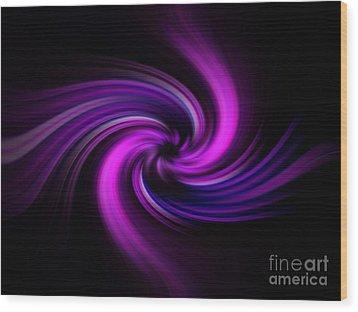 Pink Swirl Wood Print by Trena Mara