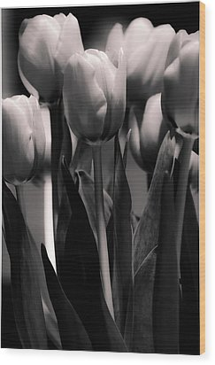 Wood Print featuring the photograph Pink Toned Tulips by Craig Perry-Ollila