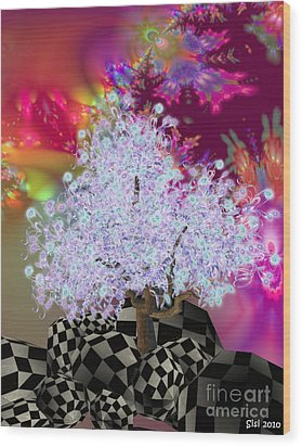 Pink Tree Wood Print by Susanne Baumann