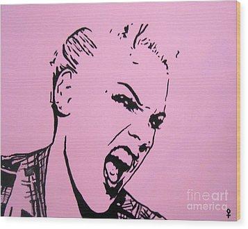 Pink Wood Print by Venus