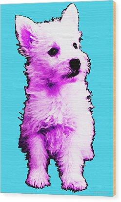 Pink Westie - West Highland Terrier Art By Sharon Cummings Wood Print by Sharon Cummings