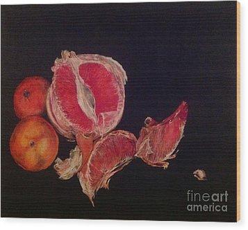 Pink Zest Wood Print