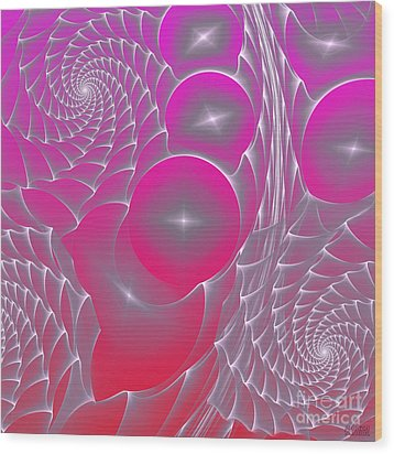 Wood Print featuring the digital art Pinky Space by Hanza Turgul