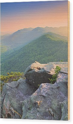 Pinnacle Rock Wood Print