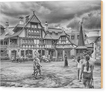 Wood Print featuring the photograph Pinocchio's Village Haus by Howard Salmon