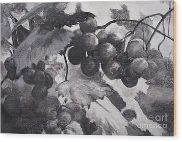 Pinot Noir Wood Print by Mary Lynne Powers