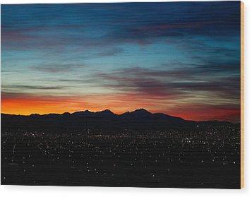 Pintler Sunset  Wood Print by Kevin Bone