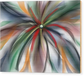 Pinwheel Abstract Wood Print