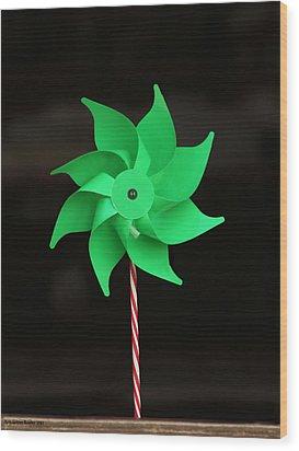 Pinwheel Wood Print by Aleksander Rotner