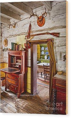 Pioneer Dining Room Wood Print by Inge Johnsson