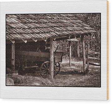 Pioneer Shed Calotype Wood Print