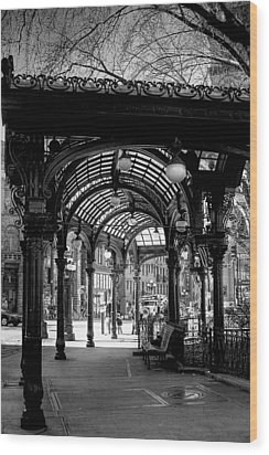 Pioneer Square Pergola Wood Print
