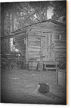 Pioneer Tool Shed Wood Print by Sheri McLeroy