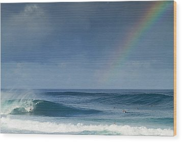 Pipe At The End Of The Rainbow Wood Print by Sean Davey