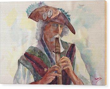 Piper - Fred Mccall Wood Print