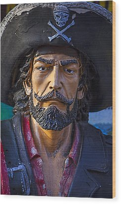 Pirate Captain Wood Print by Garry Gay