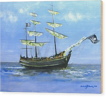Pirate Wood Print by Howard Stroman