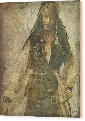 Pirate Johnny Depp - Steampunk Wood Print