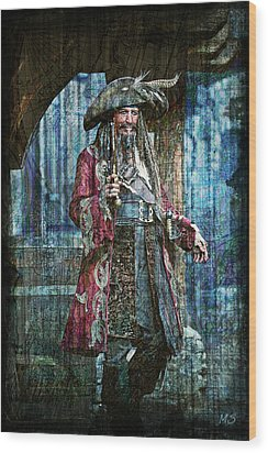 Pirate Keith Richards Wood Print