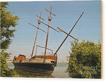 Wood Print featuring the photograph Pirate Ship Or Sailing Ship by Sue Smith
