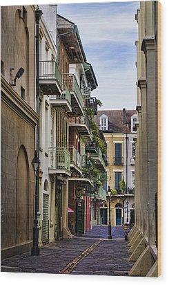 Pirates Alley Wood Print by Heather Applegate