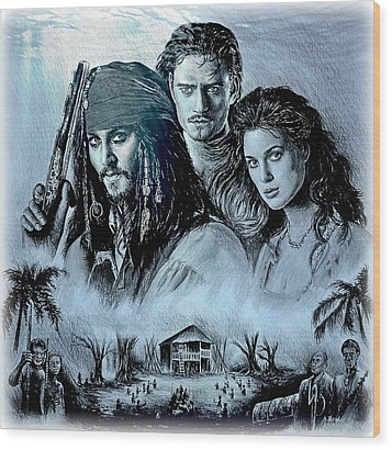 Pirates Wood Print by Andrew Read