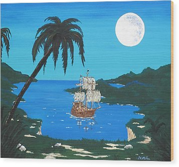 Pirate's Cove Wood Print by Don Miller